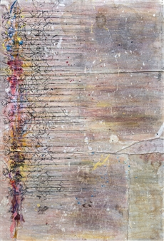 Vincent Donato - Deep Enough to Stitch Mixed Media on Vintage Drop Cloths, Mixed Media