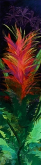 Eileen Berger - Passion Flower Mixed Media on Canvas, Paintings