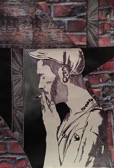 Sydnei SmithJordan - Untitled 2 Mixed Media on Paper, Mixed Media