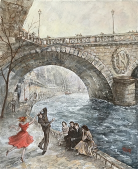 Rody - Dancers by Napoleon Bridge Oil on Canvas, Paintings