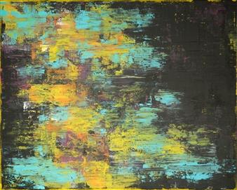 Susan Shade - Merry-Go Acrylic on Canvas, Paintings