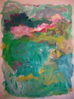 Susan Marx - The Pink Line Acrylic on Canvas, Paintings