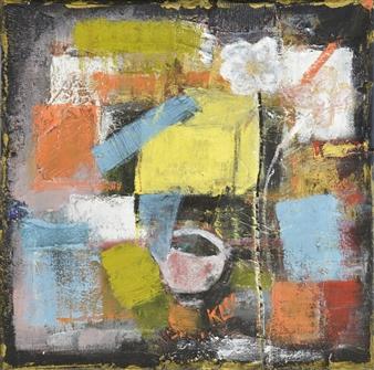 Kerstin Lundin - Faithfulness Oil & Mixed Media on Canvas, Mixed Media