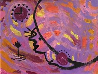 Olivia Kapoor - Silhouette 4 Acrylic on Canvas, Paintings