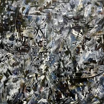 Terry Firkins - Crux Oil & Mixed Media on Canvas, Mixed Media