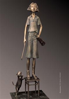 Anna Voloshko - Wunderkind Bronze, Sculpture