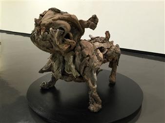 Akemi Fujita - Bull Wood, Sculpture