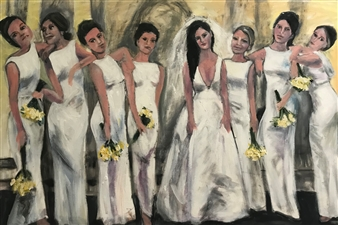 Marlene Kurland - Bridal Party With Attitude Giclee on Canvas, Prints