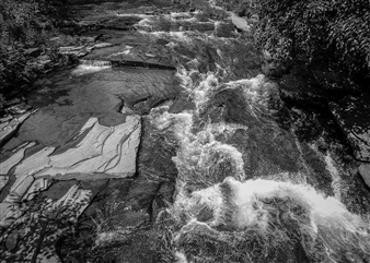 Carolyn Rogers - Waterflow Platinum/Palladium Photograph, Photography