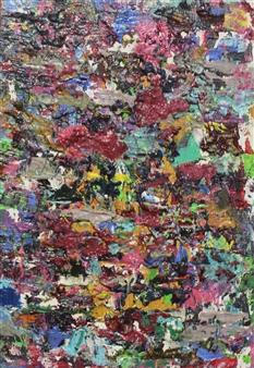 Masaoki Mitsutake - Texture No.2 Oil on Canvas, Paintings