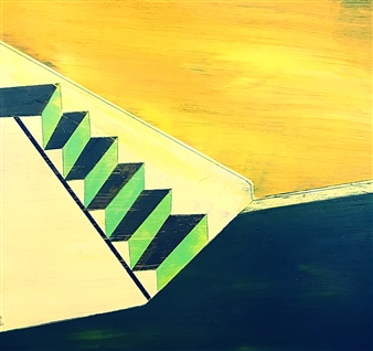 Arthur H. Gunther III - Stairway Acrylic on Wood, Paintings