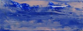 François-Jérôme Bringuier - Glacier Oil on paper, Paintings