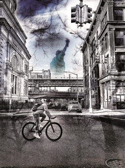 Mark markpizzaArt - Brooklyn & The Lady Photograph on Plexiglass, Photography
