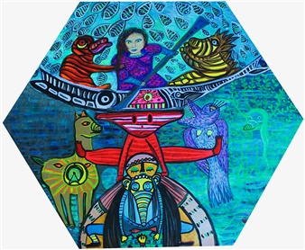 Paula Sayago Lundin - Near Acrylic on Canvas, Paintings