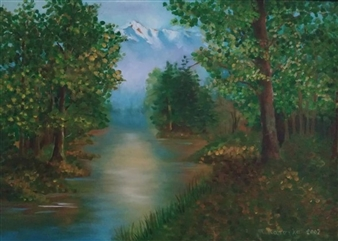 Konka - A Forest of Empty Suits of Armor Oil on Canvas, Paintings
