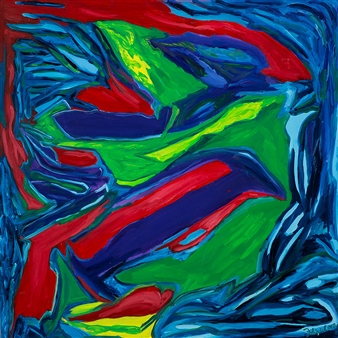 Judy Ann Filipich - Gulf of Mexico Dolphins Oil on Canvas, Paintings