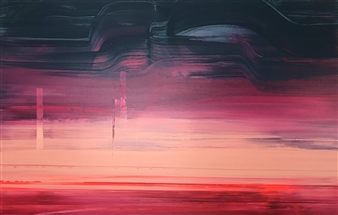 Gui Calil - Sometimes, Desert Acrylic on Canvas, Paintings