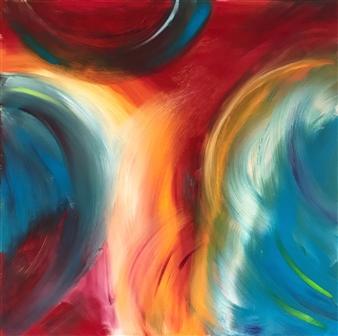 Travis Ballantyne - Feathers Acrylic on Canvas, Paintings