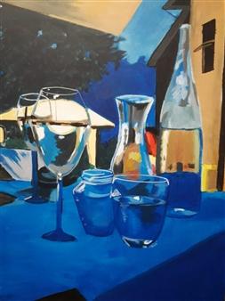 Silvia Mónica Giammatteo - Una Tarde de Verano Acrylic on Canvas, Paintings