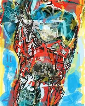 Andrew Knox - Giraffa Digital Collage, Digital Art