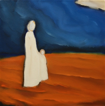 María de Echevarría - Arrivals #2 Oil over Acrylic on Canvas, Paintings