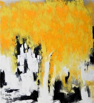 Vasant Dora - Amaltas-1 Oil on Canvas, Paintings