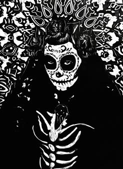 Vanessa Gonzalez - Catrina Linocut, Prints