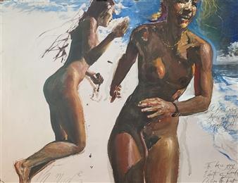 Alexandr Mischan - The Door is Opening Tempera on Paper, Paintings
