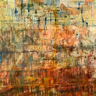 Fleur Cowgill - Beyond Lefkada: Underwater Oil & Mixed Media on Canvas, Mixed Media