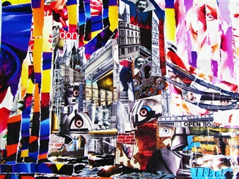 GLIL - Tower Bridge Paper/Collage, Mixed Media