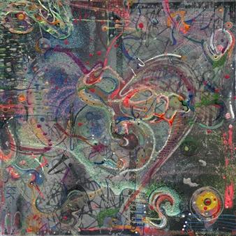 Denel-KK (Kristen Keeling) - The Key Mixed Media on Canvas, Mixed Media
