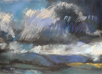 Rebecca Rath - Autumn Storm Soft Pastel on Fabiano Paper, Paintings