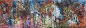 Saurabh Mohan - Deluge 9 Acrylic on Canvas, Paintings