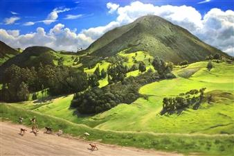 Mauricio Valdiviezo - Jauria Oil on Canvas, Paintings