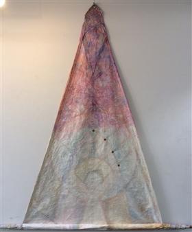 The KonKons - Gothic Mixed Media & Sail Cloth on Canvas, Mixed Media