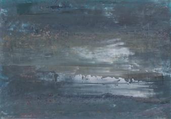 François-Jérôme Bringuier - Iceberg 1 Oil on Paper, Paintings