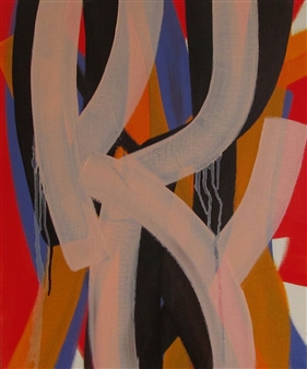 Akihito Izumi - Composition-12 Oil on Canvas, Paintings