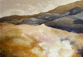 Marc Provisor - Inverted Desert Oil on Canvas, Paintings