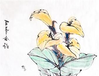 Raúl Mariaca Dalence - Calas Chinas Watercolor & Ink on Paper, Paintings