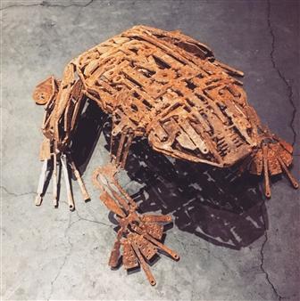 Yoshiki Uchida - Frog Metal, Sculpture