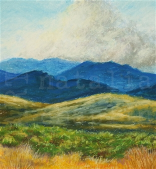Natalia Chaplin - High Country Pastel on Paper, Paintings