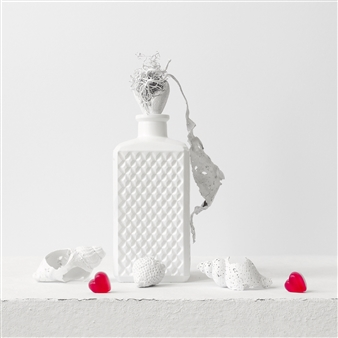 Art Golacki - Still Life in White with Two Hearts / second variation Archival Pigment Print, Photography
