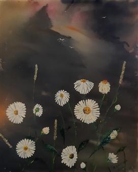 Anders Ekelund - Daisies Acrylic on Canvas, Paintings