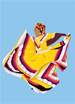 Vanessa Gonzalez - Danza Tapatia #2 Digital Illustration, Digital Art