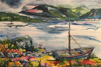 D. L. Brabander - Northern Destinations Watercolor on Canvas, Paintings