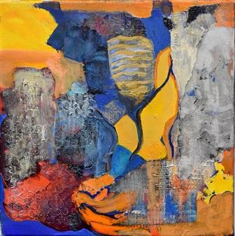 Pauline Rakis - The Vessel High Line Acrylic on Canvas, Paintings