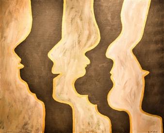 Aila Snickars - Profiles Oil on Canvas, Paintings