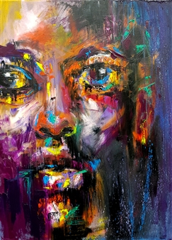Lillian Gray - Johari - My Precious One Oil on Canvas, Paintings