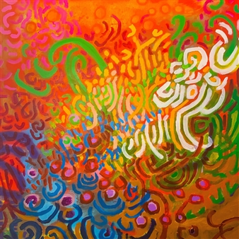 Rachel Misenar - Fiddlehead Ferns Acrylic on Canvas, Paintings