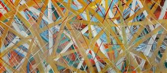 Joe Koury - Broken Lines Acrylic on Canvas, Paintings